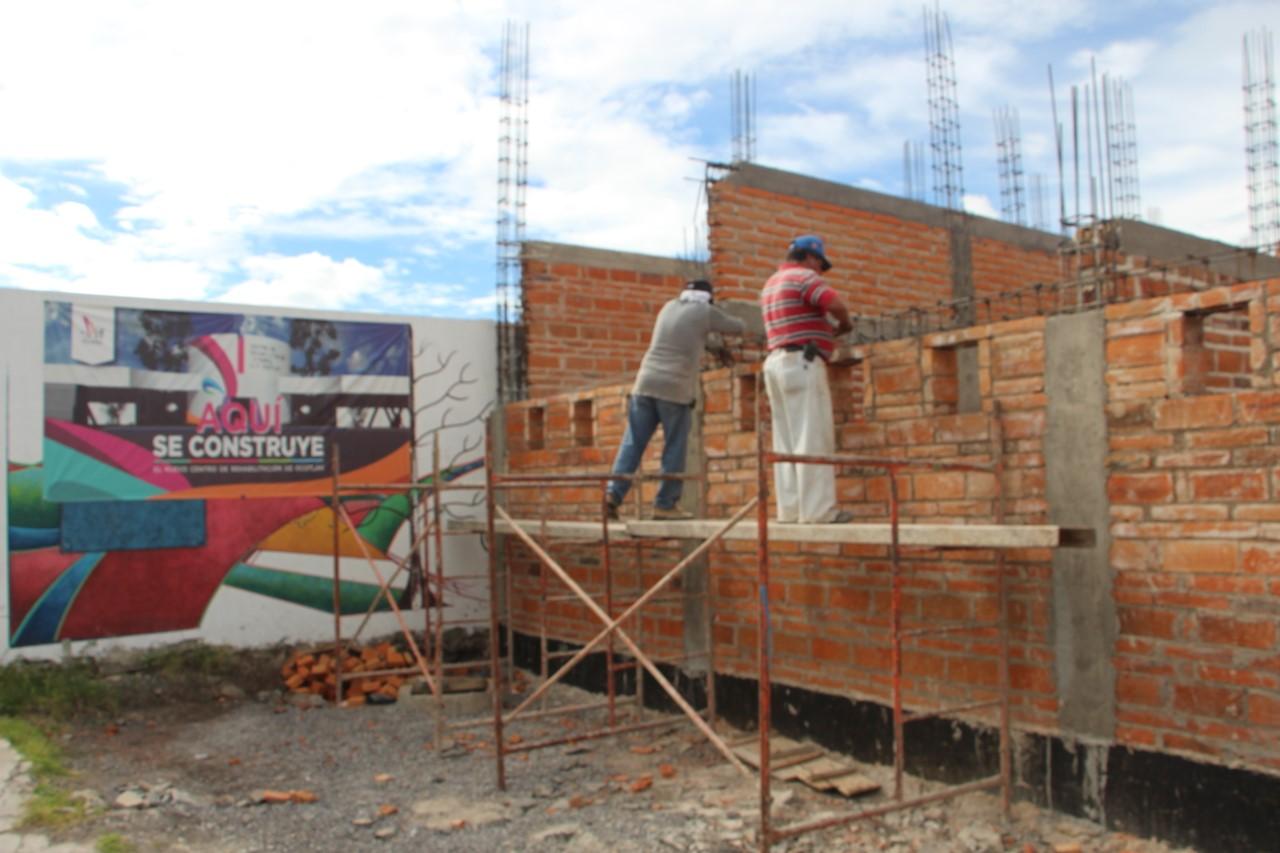 Avances de la construcción del Centro de Rehabilitación Integral de Ocotlán.