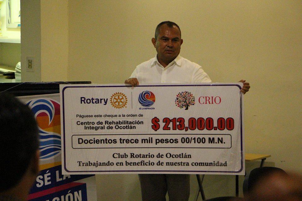 """El Club Rotario de Ocotlán se suma al proyecto del """"CRIO""""."""