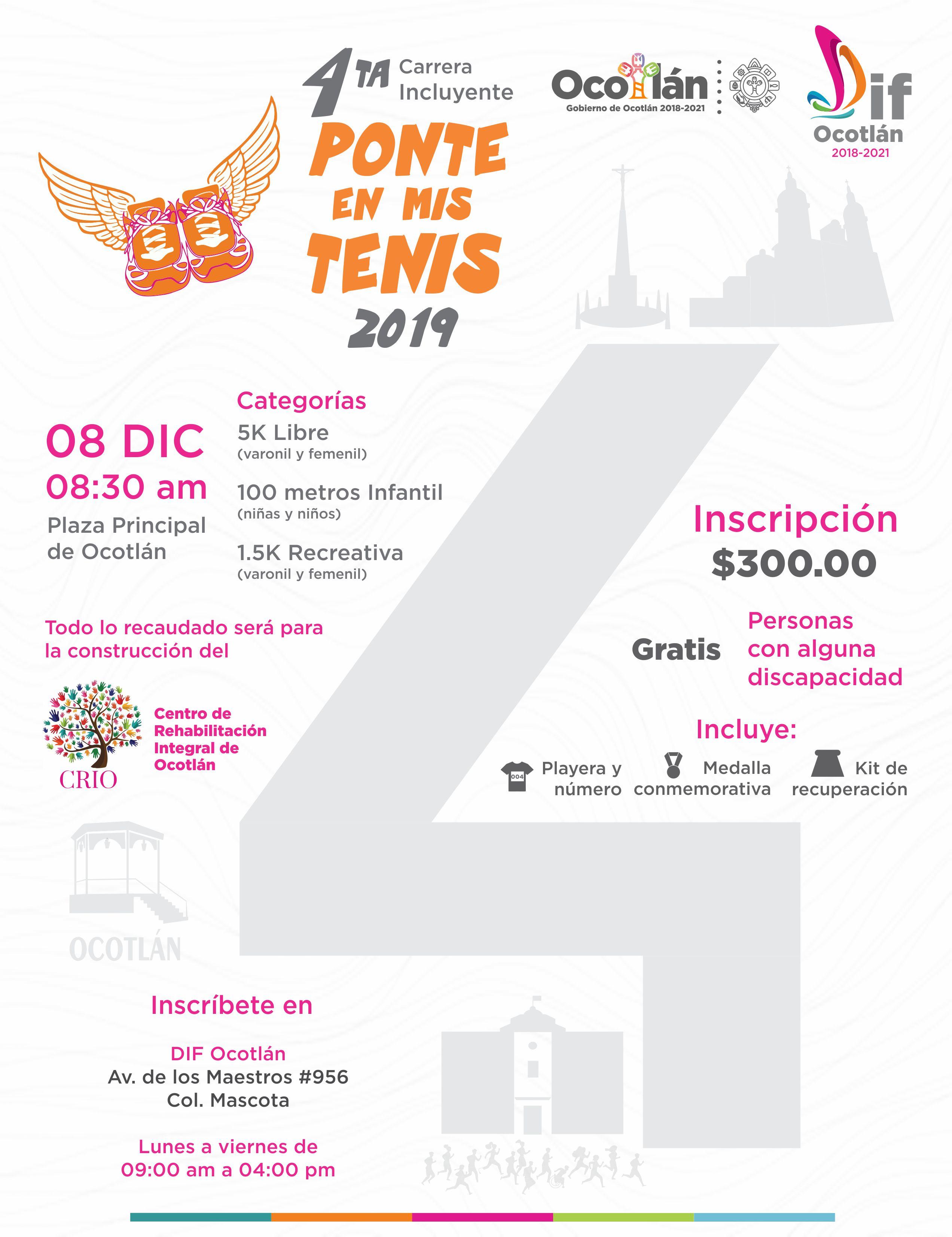 """DIF Ocotlán anuncia 4ta Carrera incluyente """"Ponte en Mis Tenis"""""""